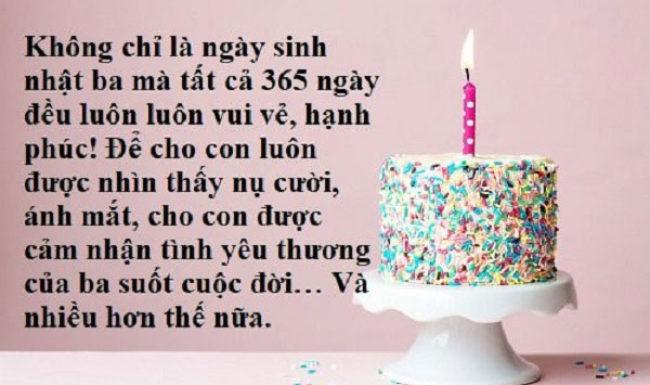 Lời chúc mừng sinh nhật bố hay và cảm động nhất không nên bỏ qua