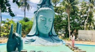 Tượng Quan Âm dưới nước khổng lồ lần đầu xuất hiện tại Việt Nam