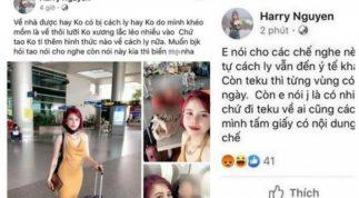 Vừa lên mạng khoe khả năng 'uốn 3 tấc lưỡi' để thoát cách ly, cô gái trở về từ Hàn Quốc đã nhận hậu quả