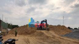 Vai trò quan trọng của cát san lấp trong xây dựng dự án công trình