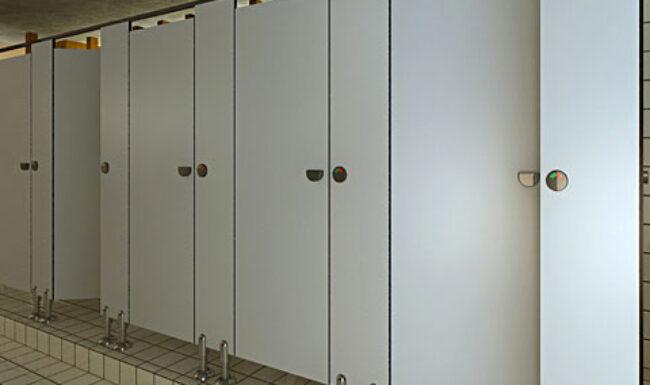Thiết kế không gian kiến trúc bằng vách ngăn vệ sinh